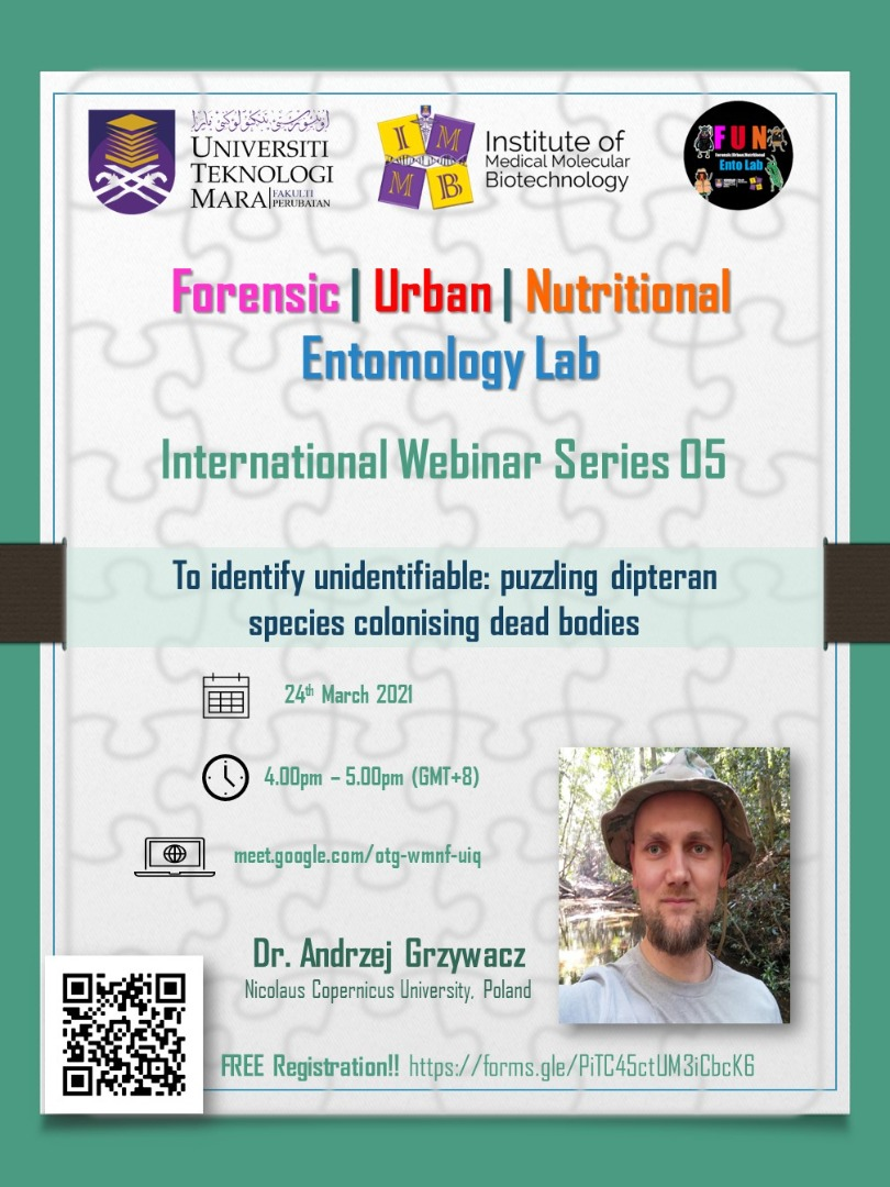 Forensic-Urban-Nutritional (FUN) Entomology Lab´s International Webinar Series 05.